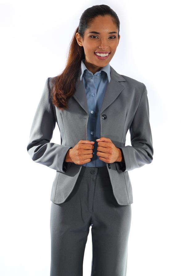 4cd59b5961 Blazer Oxford Cinza - Uniforme Feminino - Yoshida uniformes sociais ...